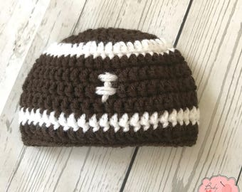 Football Sports Infant Newborn Baby Beanie Hat Crochet Photography Photo Prop