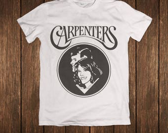 The Carpenters Yesterday Once More Black on White Album  Music Shirt