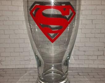 Superman Beer Glass