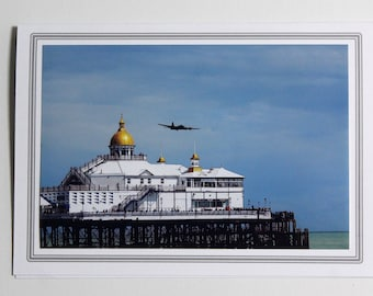 Photo greetings card - Airplane card - Personalised card - Eastbourne card
