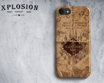 Marauder's Map IPhone Case, Harry Potter Iphone Case, iPhone 4, 5/5S, 6/6S, 6 Plus/6S Plus, Samsung S3, S4, S5, S6, S6, 6edge