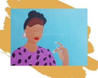 Belle (Black Woman Vintage Retro Art)