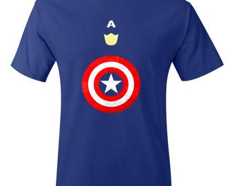 Minimalist Captain America Shirt - Captain America Shirt - Comic Shirt - Superhero Shirt