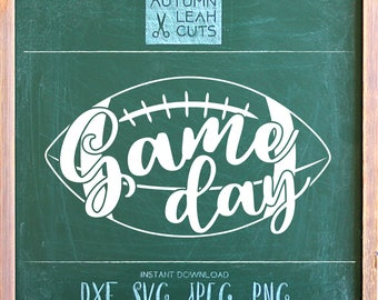 Game Day - Football -- SVG, PNG, Jpeg, DXF cut file for Silhouette, Cricut -- Instant Download Clipart - Fall Printable Art