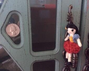 Beautiful crochet doll,collection doll,handmade doll,Miniature doll