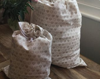 Drawstring laundry and shoe bags