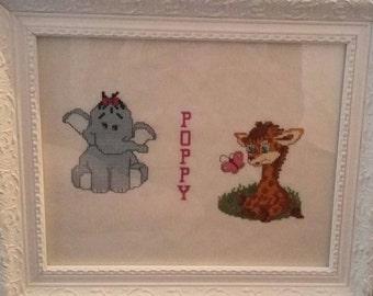Baby shower elephant and giraffe
