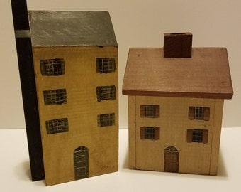 Folk Art Decorative Wooden Houses