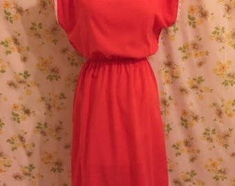 Vintage Tangerine Summer Dress