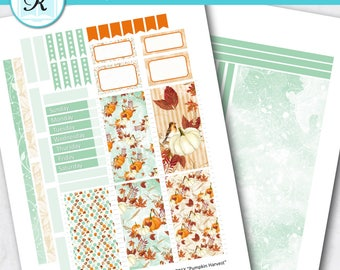 Passion Planner Stickers * Classic Sized Passion Planner * Printable Planner Stickers - PUMPKIN HARVEST - Digital Download
