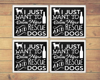 Dog Lover Gifts | Dog Mom Gifts | Dog Rescue | Pet Gifts | Coaster Set | Gifts Under 15 | Dog Gifts | Coasters | Gift for Mom (Set of 4)