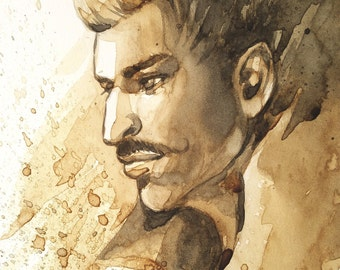 Dorian Pavus Coffee Painting Print