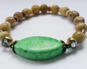 Green Goddess (Green Howlite Stones)