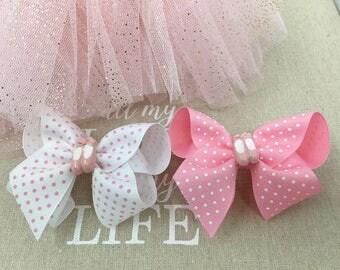 2 Ballerina Hair bows ,Children Hair bows,Kids hair bows, Ballet hair clip, Ballerina Hair Clips