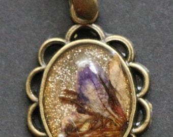 Homemade Bronze Glitter Pendant