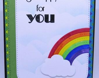 Handmade Rainbow Baby Card - Gay Pride Card - LGBTQ Card - Rainbow Card - Miscellaneous Card - LGBTQ Friendly Card - Handmade Card
