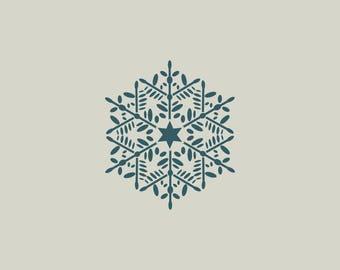 Snowflake stencil. Christmas decoration. Adhesive vinyl stencil. (ref 153)