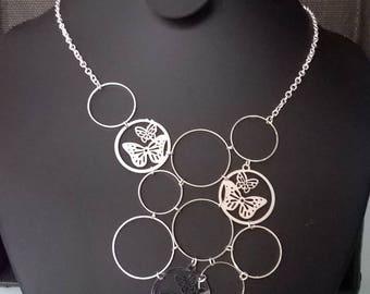 Set of butterfly shape necklace