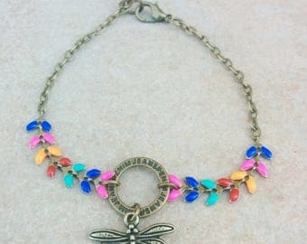 chain and Spike multicolor bracelet