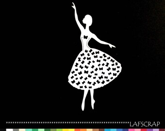 1 cut scrapbooking character woman dancer cut paper embellishment die cut creation