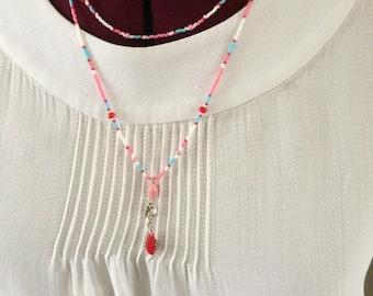 Necklace pastel 2 rows