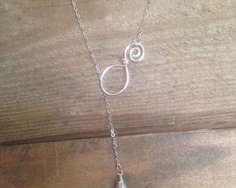 Spiral Infinity necklace | Lariat Beach Glass Necklace | Lake Erie Beach Glass Necklace