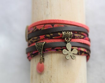 Bracelet double strand coral