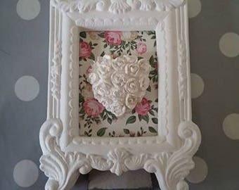 Scented plaster frame