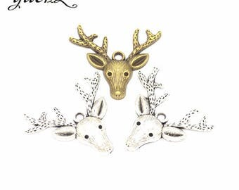 5 charm pendant deer 36 x 32 mm within 15 days