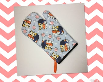 Sushi Cat Kitchen Oven Mitt  *Ready to Ship
