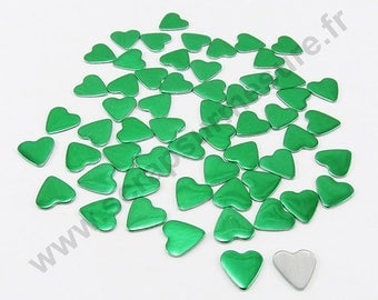 Thermo - pine green - heart 6mm - x 75pcs
