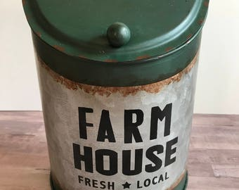 Farmhouse Metal Wall Container Vintage MailBox Rustic Container
