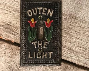 Vintage Metal Switchplate