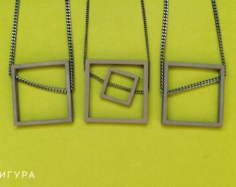 STL files for the Squares pendant    Digital    Necklace    Pendant    3D Print   