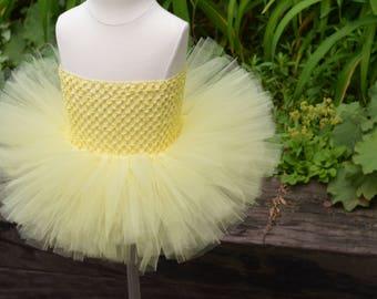 yellow fluffy tutu