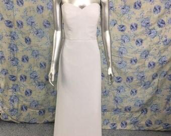 Simple White Strapless Wedding Dress Sz 10