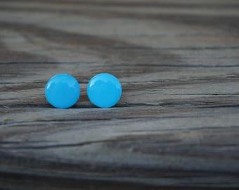 Sky Blue Polymer Clay Earrings