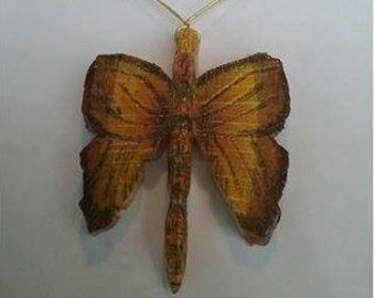 "Yellow Line Butterfly 24"" Necklace, Handcrafted one of a kind."
