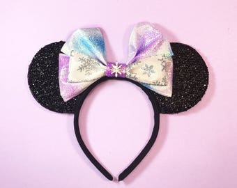 Elsa Frozen Mickey Ears Disney Inspired Minnie Ears Headband