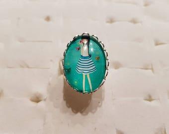 Modern girl ring