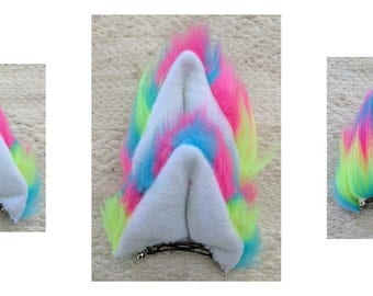 Neon Rainbow Cat ears