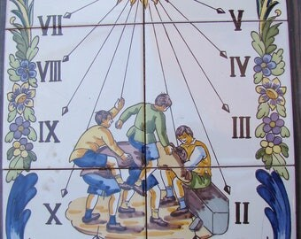 Sun clock of tiles