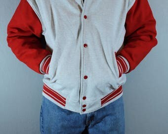 Vintage 1960's baseball jacket Sweatshirt Fruit of the Loom Fully lined