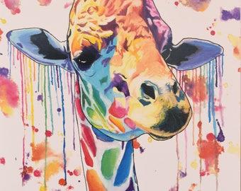 Watercolor Giraffe Print