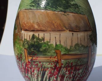 painted goose egg collection: country decor, cottage...