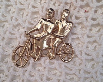 Vintage Bicycle Brooch