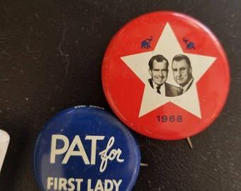Richard Nixon amd Spirow Agnew 1968 Election Pins