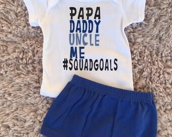 Baby Boy Squadgoals, Baby Boy One Piece, Baby Shower Gift, Baby Boy Shower Gift