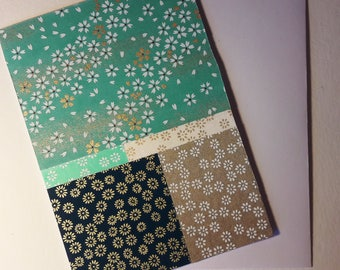Card / double bristol - embossed card