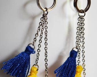 Earrings multi tassels